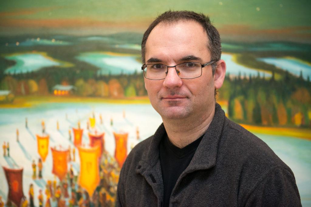 Malíř Jaroslav Valečka v Galerii 1